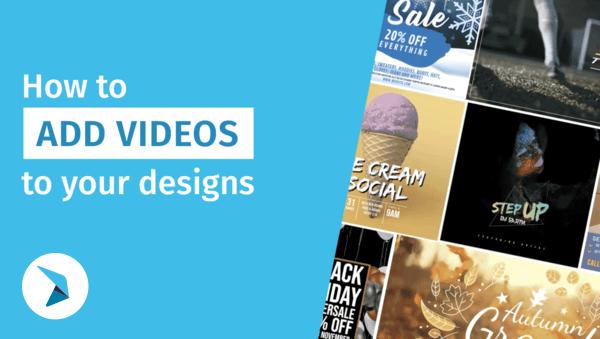 Comment ajouter des vidéos à votre création