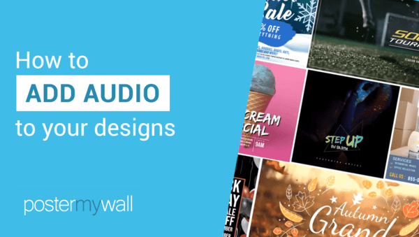 How to add audio to your designs